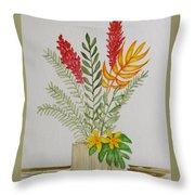 Tropicals Throw Pillow