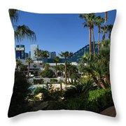 Tropicana And The M G M Grand, Las Vegas Throw Pillow