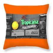 Tropicana Field Throw Pillow