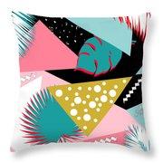 Tropics Colors  Throw Pillow