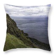Trotternish Landscape Throw Pillow