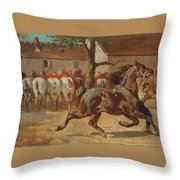 Trotting A Horse Throw Pillow