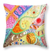 Trotting Lightly Throw Pillow