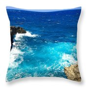 Trou Madame Coco, Grande Terre, Guadeloupe Throw Pillow