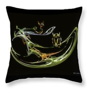 Trouble In Paradise Throw Pillow