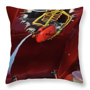 Trouble Under The Hood Throw Pillow