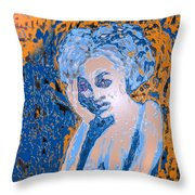 Troubled Woman Throw Pillow