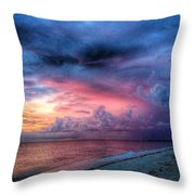 Troubling Skies Throw Pillow