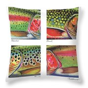 Trout Colors Throw Pillow