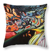 Trout Dream Throw Pillow