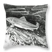 Trout II Throw Pillow