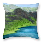 Trout Lake North Throw Pillow