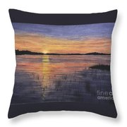 Trout Lake Sunset II Throw Pillow