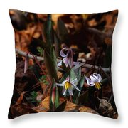 Trout Lillie In Lost Valley Throw Pillow