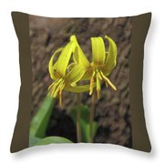 Trout Lily 1068 Throw Pillow