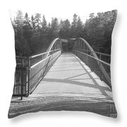 Trowbridge Falls Bridge Bw Throw Pillow
