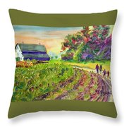 Troy's Memories Throw Pillow by Kathy Braud