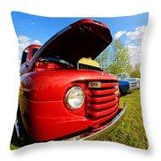 Truck Headlight Throw Pillow