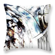 Truck In Dappled Sunlight Throw Pillow