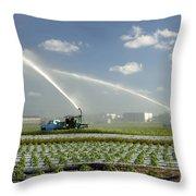 Truck Mounted Irrigation Throw Pillow