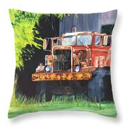 Truck Rusted Throw Pillow