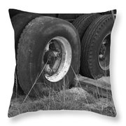 Truck Tires Throw Pillow