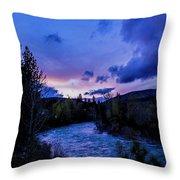 Truckee River Sunset Throw Pillow