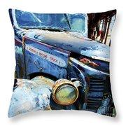 Truckin Throw Pillow by Debbi Granruth