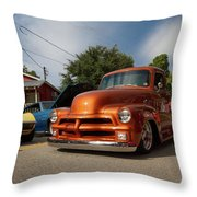 Trucking With Style Throw Pillow