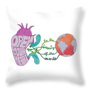 True Beauty In The World Throw Pillow