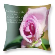 True Friendship Is Like A Rose Throw Pillow