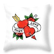 True Love Tattoo Throw Pillow