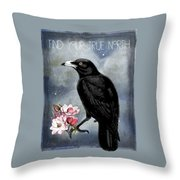 True North Crow And Magnolias Throw Pillow