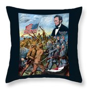True Sons Of Freedom -- Ww1 Propaganda Throw Pillow