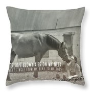 Truest Companion Quote Throw Pillow