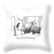 Truffle Hogs Throw Pillow