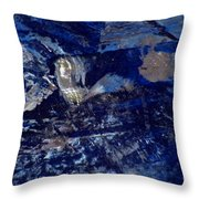 Truly Blue  Throw Pillow