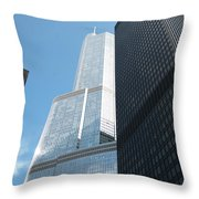 Trump Building From Other Side Throw Pillow