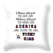 Trump Card Throw Pillow