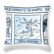 Trump Olympic Games Throw Pillow