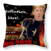 Trump Revolution Throw Pillow by Guy  Cannon