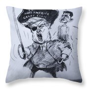 Trump, Short Fingers Pirate With Ryan, The Bird  Throw Pillow