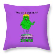 Trump Slimes America Throw Pillow