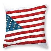 Trump Sweeps Under The Flag Rug Throw Pillow
