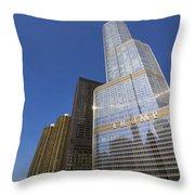 Trump Tower And Marina City Throw Pillow