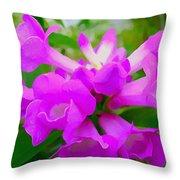 Trumpet Flower 1 Throw Pillow