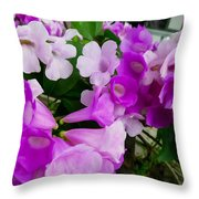 Trumpet Flower 2 Throw Pillow