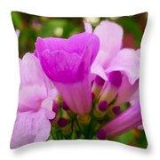 Trumpet Flower 5 Throw Pillow