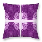 Trumpet Flowers In Abstract Throw Pillow