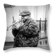 Trumpet In The Rain 2 - Nola Throw Pillow